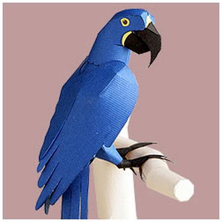 Попугай Ара в оригами своими руками. - Полезные самоделки 65