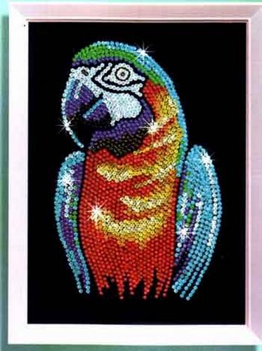 пайетки попугай