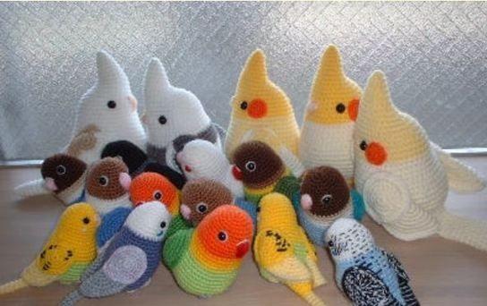 попугаи вязание